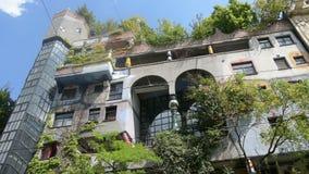 Hundertwasserhaus stock footage