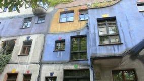 Hundertwasserhaus stock video