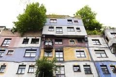 Hundertwasserhaus Hundertwasser House in Vienna Royalty Free Stock Images