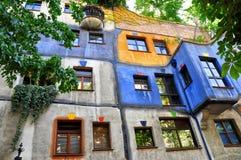 Hundertwasserhaus Viena Imagen de archivo libre de regalías