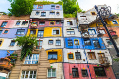 Hundertwasserhaus in Vienna stockbild