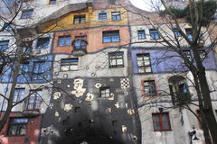 Hundertwasserhaus (Vienna/Austria). Apartment buildig by the famous Austrian painter and architect Friedensreich Hundertwasser (picture taken on February 12th Royalty Free Stock Image
