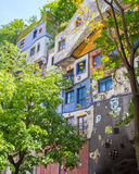 Hundertwasserhaus in Vienna during the Summer Royalty Free Stock Photos