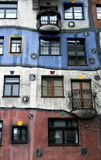 Hundertwasserhaus in Wien, Österreich Stockfoto