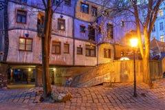 Hundertwasserhaus Wien, ?sterrike royaltyfria bilder