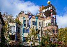 Hundertwasserhuis, Slechte Soden, Duitsland stock foto's