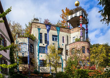 Hundertwasserhuis, Slechte Soden, Duitsland royalty-vrije stock afbeeldingen