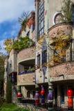 Hundertwasserhuis, Slechte Soden, Duitsland Stock Fotografie