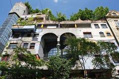 Hundertwasserhuis, Wenen stock afbeelding