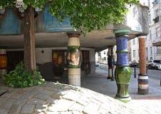 Hundertwasserhuis, Wenen royalty-vrije stock foto
