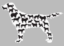 Hundeschattenbilder innerhalb eines Hundes lizenzfreie abbildung