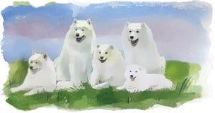 Hundeschlittenhund stock abbildung