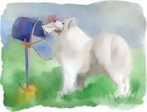 Hundeschlittenhund lizenzfreie abbildung