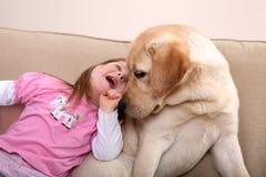 Hundetherapie lizenzfreie stockbilder