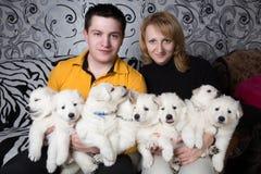 Hundezüchter Stockbild