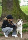 hundflicka Royaltyfria Bilder