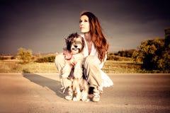 hundflicka Royaltyfri Fotografi
