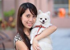 hundflicka arkivfoto