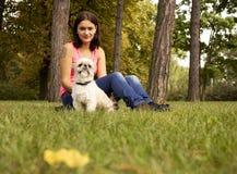 hundflicka henne Fotografering för Bildbyråer