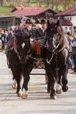 Hundham, Германия, Бавария 04 11 2017: Езда Leonhardi в баварском Hundham Стоковые Изображения
