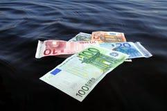 Hundimiento de los euros Fotografía de archivo libre de regalías