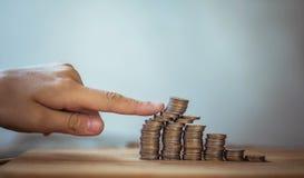 Hundimiento del mercado de moneda, los riesgos de inversión Imágenes de archivo libres de regalías