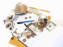 Hundimiento en la economía Imagen de archivo libre de regalías