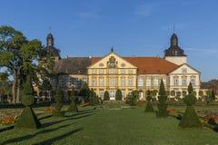 Hundisburg slott och barockträdgård i Sachsen-Anhalt Fotografering för Bildbyråer