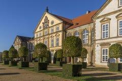 Hundisburg slott och barockträdgård i Sachsen-Anhalt Arkivfoton