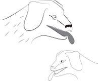 Hundkapplöpning royaltyfri illustrationer