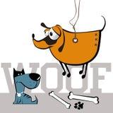 Hundkapplöpningleende royaltyfri illustrationer