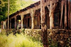 Hundlapp USA - gammal byggnad Royaltyfri Foto