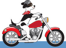 Hundmotorcykel stock illustrationer