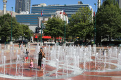 Hundraårs- olympiskt parkerar, Atlanta, GUMMIN Arkivfoto