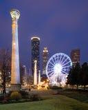 Hundraårs- olympiskt parkerar i Atlanta Arkivbilder