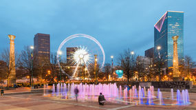 Hundraårs- olympiskt parkerar i Atlanta Arkivfoto