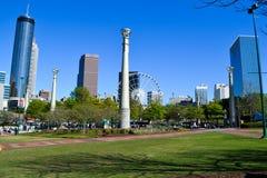 Hundraårsjubileet parkerar i stadens centrum Atlanta gummin arkivbilder