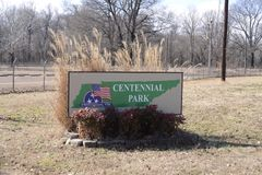 Hundraårsjubileet parkerar, Millington, Tennessee Arkivbild