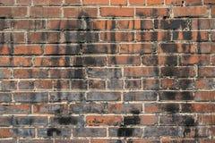 Hundra-År-gammal målad bakgrund för tegelstenvägg Royaltyfri Fotografi