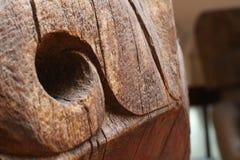 Hundra år gammalt wood hantverk Arkivbilder