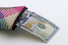 Hundra amerikanska dollar Fotografering för Bildbyråer