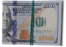 Hundra dollar av Förenta staterna Arkivbild