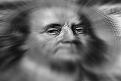 Hundra dollar Bill American Zoom Arkivfoto