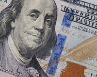 Hundra dollar - 100 dollar Bill Stock Photo Arkivbild
