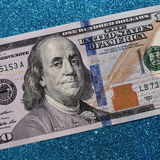 Hundra dollar - 100 dollar Bill Stock Photos Royaltyfria Bilder