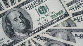 Hundra dollar hög Pengarbakgrund, hög av dollar, finansiellt begrepp av förtjänster Top beskådar finansiellt Royaltyfria Foton