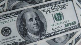 Hundra dollar hög Pengarbakgrund, hög av dollar, finansiellt begrepp av förtjänster Top beskådar finansiellt Royaltyfria Bilder