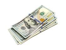 Hundra dollar sedlar Arkivbild