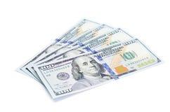 Hundra dollar sedlar Royaltyfri Bild