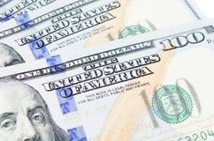 Hundra dollar sedlar Royaltyfria Bilder
